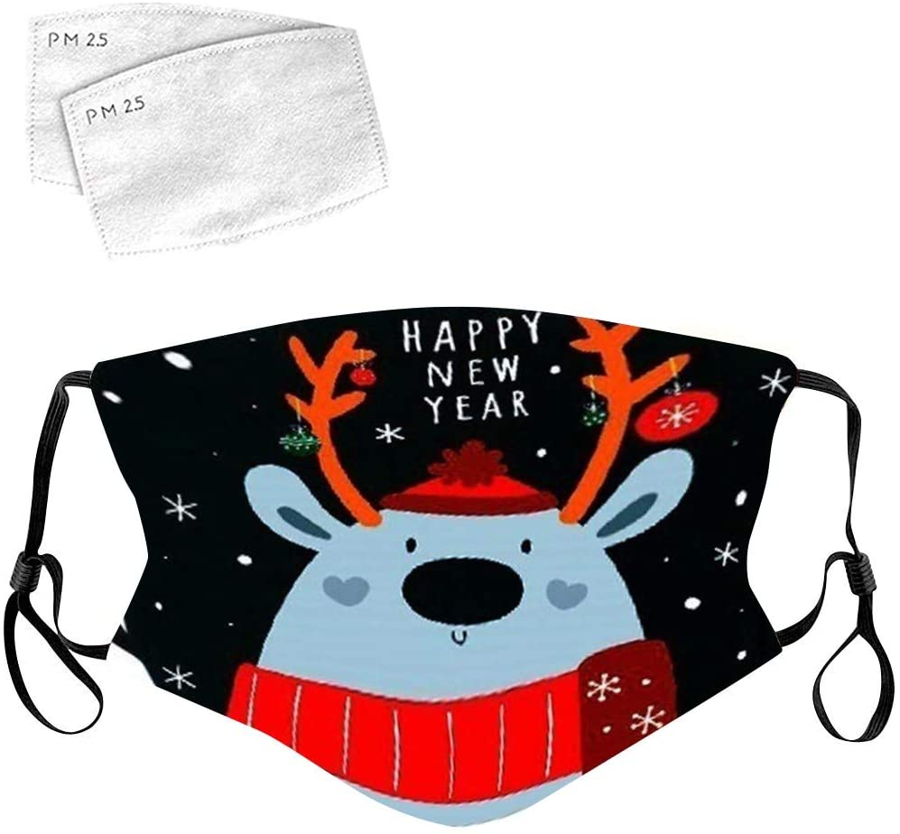 Christmas Face_Mask for Women Men,Stylish Xmas Pattern Mouth Bandanas for Indoors and Outdoors