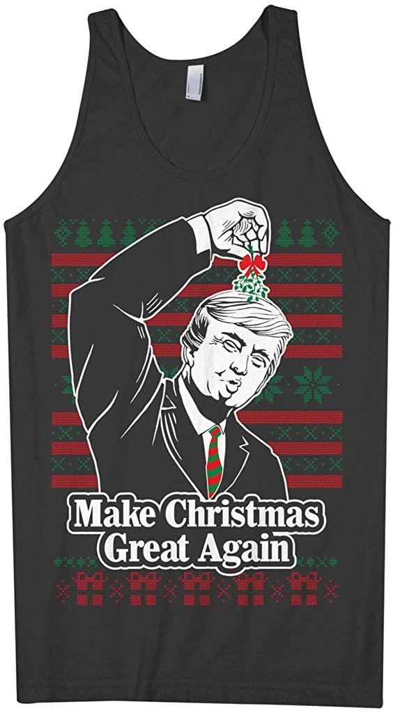 Threadrock Men's Trump Make Christmas Great Again Ugly Tank Top
