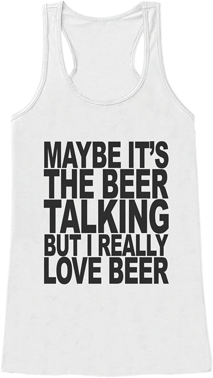 Custom Party Shop Womens I Love Beer Funny Tank Top