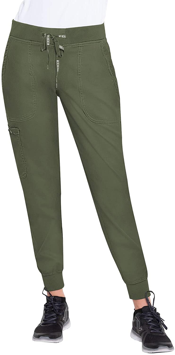 Med Couture Touch Women's Jogger Yoga Pant, Olive, X-Small Tall