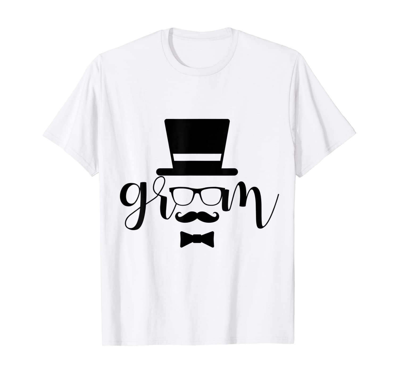 Groom Shirt White Mustache And Glasses TEAM GROOM T-Shirt