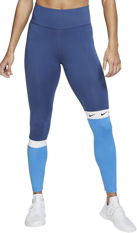 Nike Womens 7/8 Colorblock Crop Running Tights