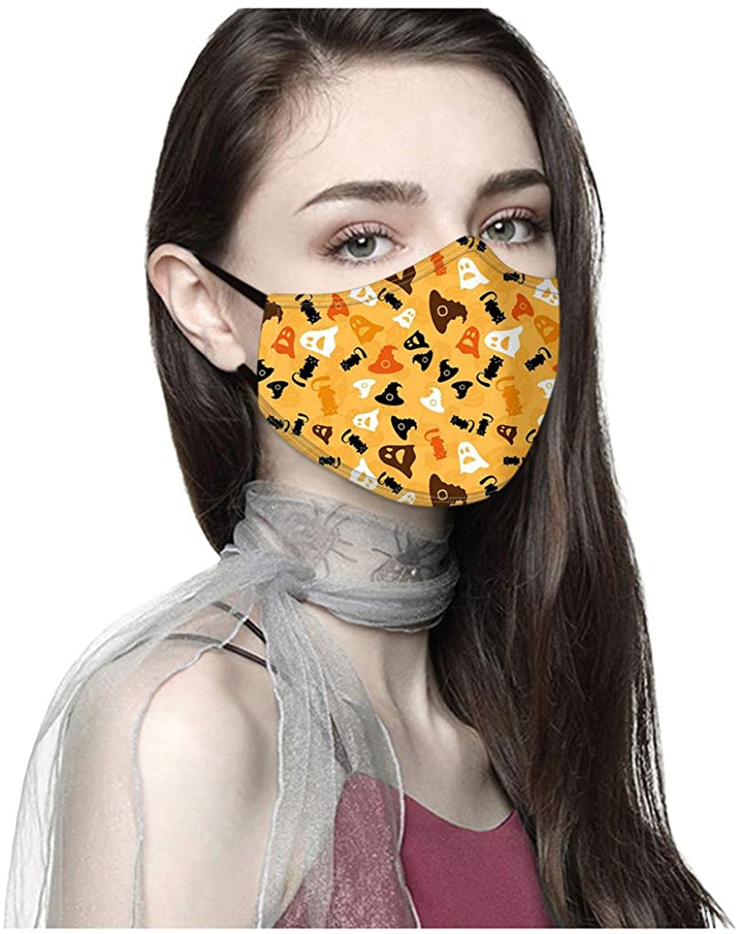 Unisex 1PCS Face Bandanas Halloween Reusable Washable Funny Printed Face Macks