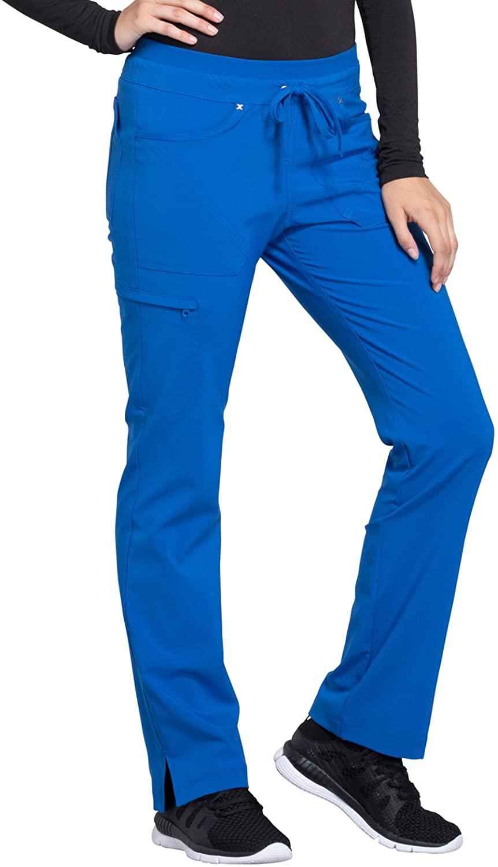 CHEROKEE iflex Mid Rise Tapered Leg Drawstring Pants, CK010, 2XL, Royal