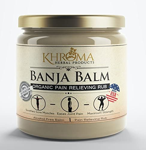 Banja Balm - Maximum Strength Organic Pain Soothing Rub - For Sore Joints and Muscles - 2 oz in a Glass Bottle