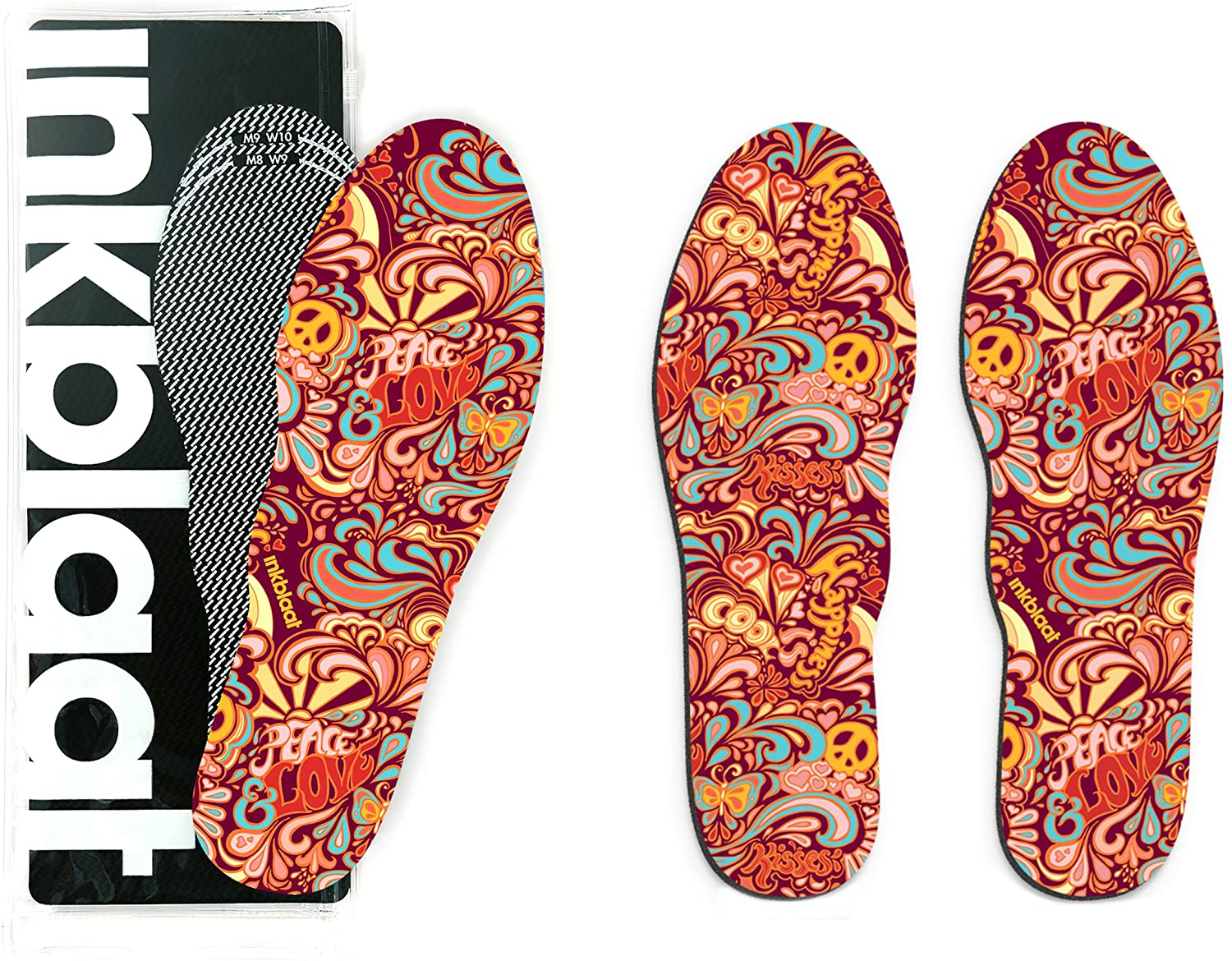 Inkblaat Odor Fighting Insoles – 24 Designs - Quirky, Fashion, Eco-Friendly Shoe Inserts (Small, Save The Whales)
