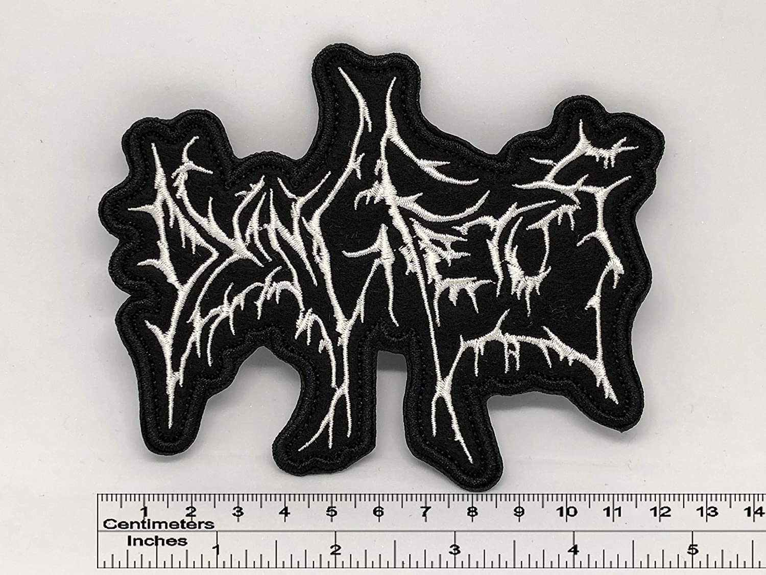Dying Fetus Band Name Patch 12cm x 10cm / 4,72x3,94 (Iron-On)