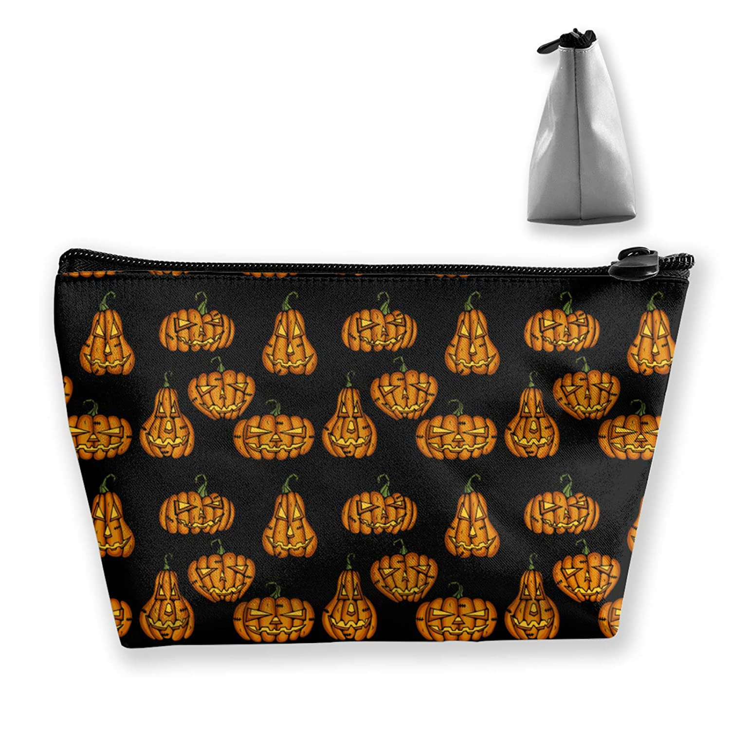 Halloween Party Night Pumpkin Black (8) Toiletry Bag Holder Portable Gift For Girls Women Large Capacity Travel Makeup Train Case For Cosmetics Digital Accessories Fashion Travel Bag