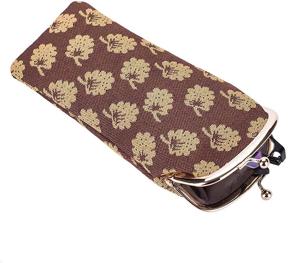 Signare Tapestry Stylish Glasses Sunglasses Pouch Storage Case in Jane Austen Design