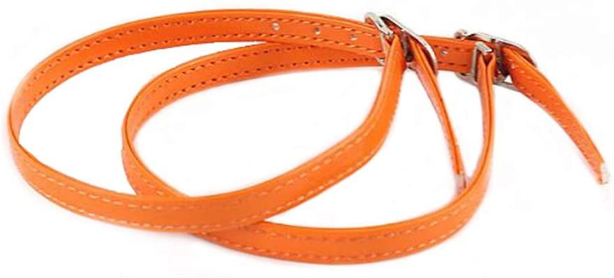 Ewanda store 5 Pairs Women Lady High Heeled Shoe Bungee Shoelaces, Boat Shoe Anti Slip Shoe Straps with Buckle(Orange)