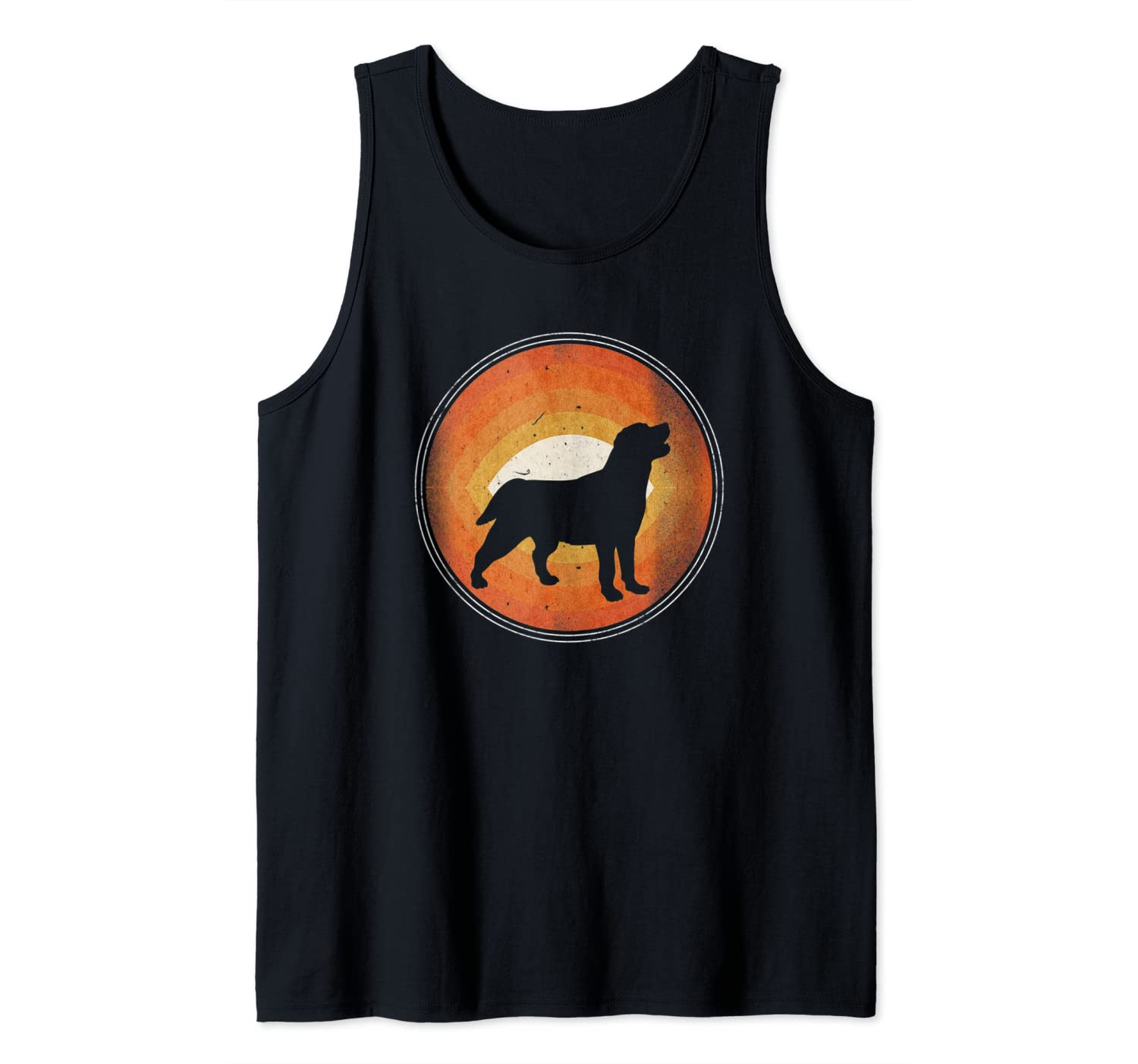 Graphic 365 Dog Breed Labrador Retriever Retro Style Tank Top