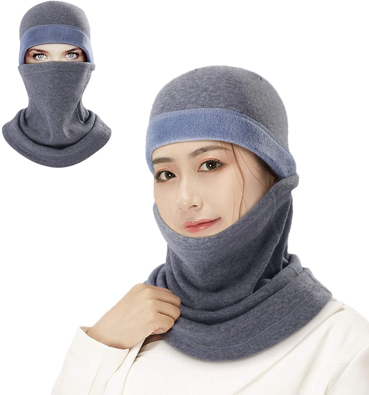 B BINMEFVN Balaclava Ski Mask - Windproof Cold Weather Face Mask Winter Fleece Hood for Men and Women