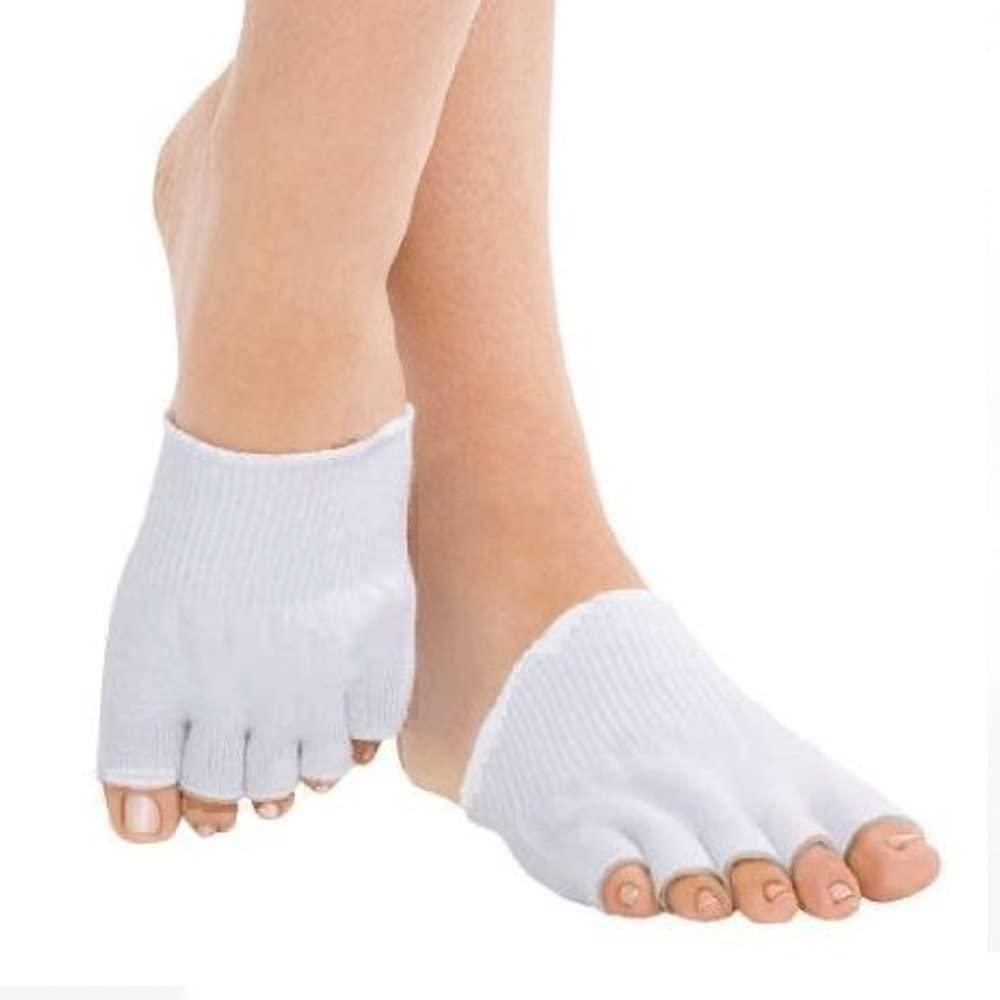Freeze N Fit Premium New Gentle Compression Socks Toe Seperator Heel Pain Relief Open Toe Non-Slip 3 Pairs Socks