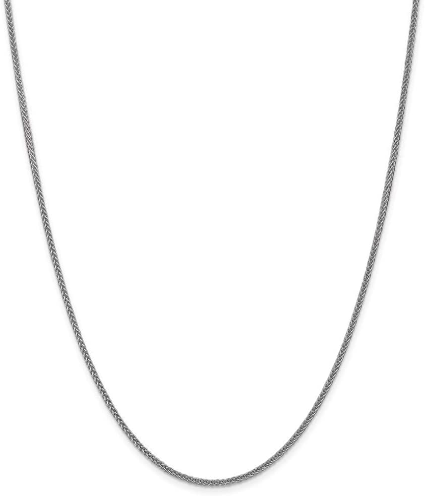 14k White Gold 2mm 3 Wire Link Wheat Chain Necklace 20 Inch Pendant Charm Spiga Fine Jewelry For Women Gifts For Her