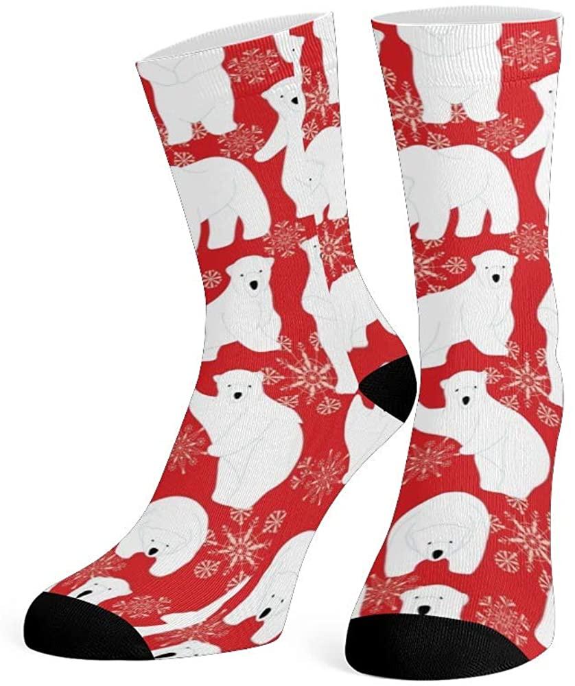 XOZOTY Custom Funny Novelty Birthday Funny Bear Crew Socks for Mens Womens