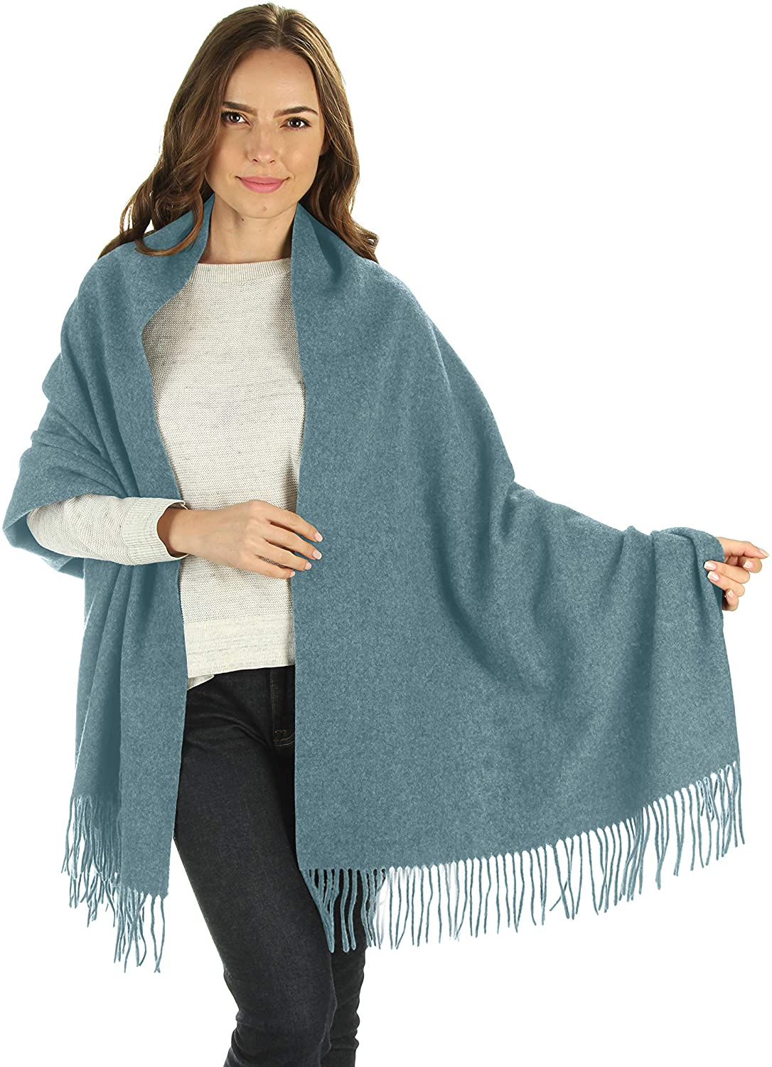 Silky Toes Luxurious Women's Thick Wool Pashmina Warm Winter Scarf Wrap Shawl