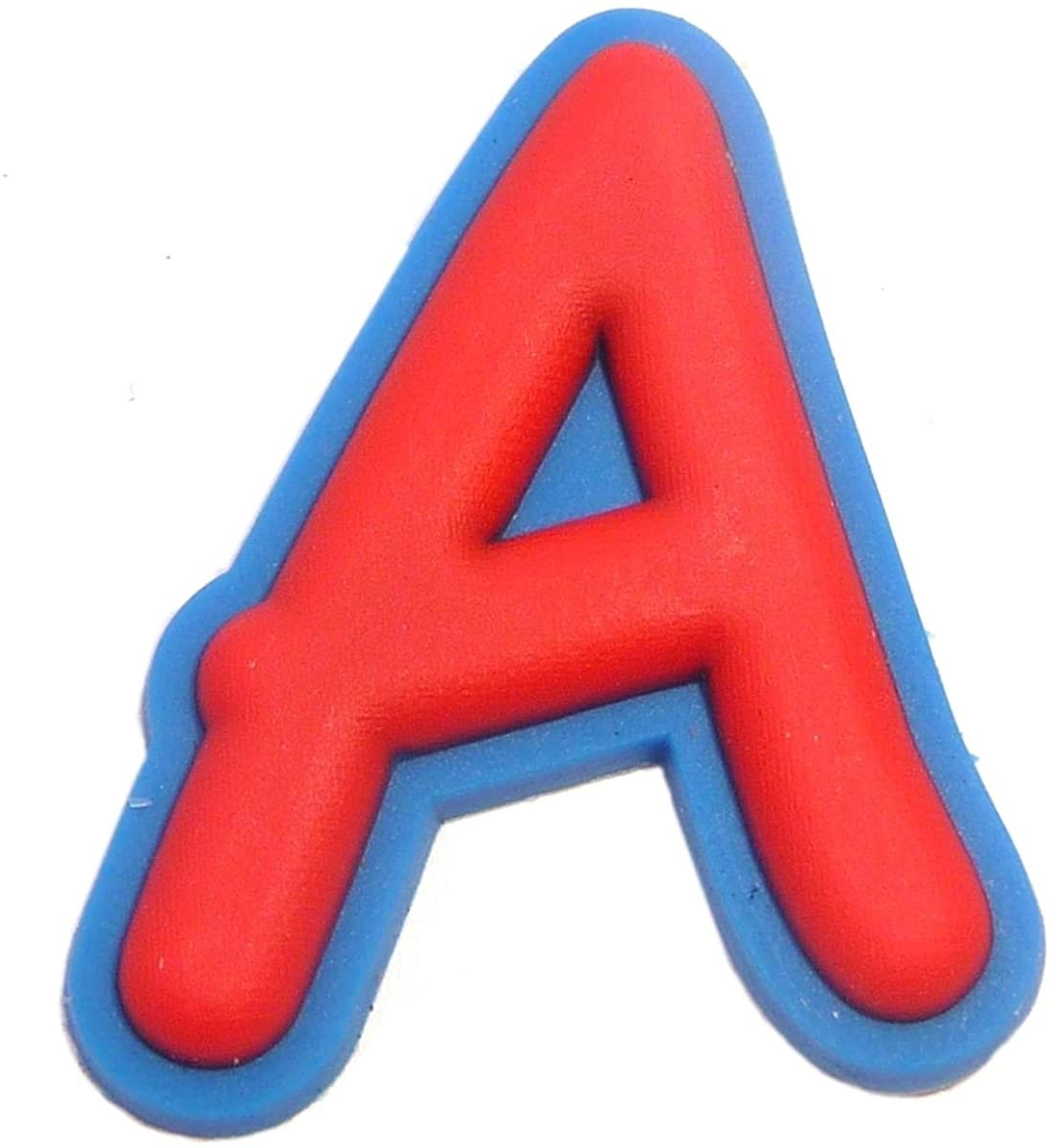 Letter A Rubber Charm for Wristbands and Shoes