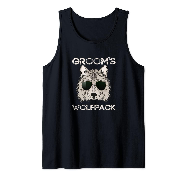 Matching Getting Ready Bride & Groom Wedding-Wolfpack Groom Tank Top