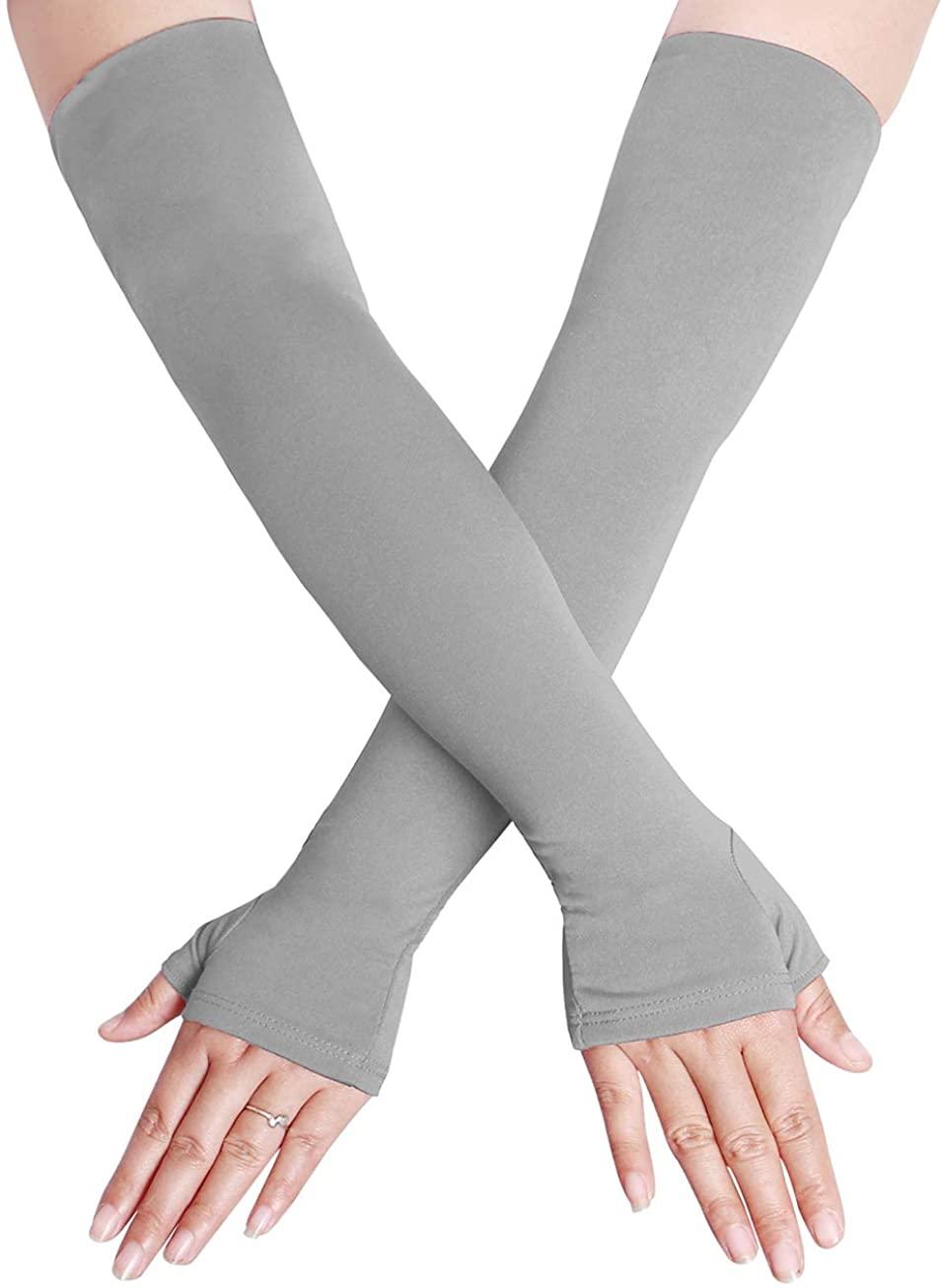 Adult Unisex Spandex Long Fingerless Gloves