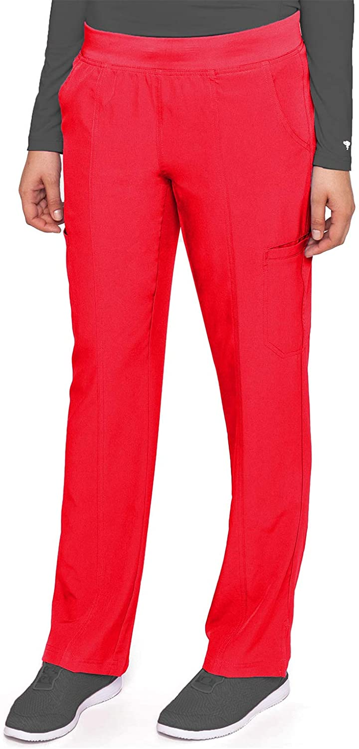 Med Couture Energy Women's Yoga Two Cargo Pocket Pant, Red, X-Large