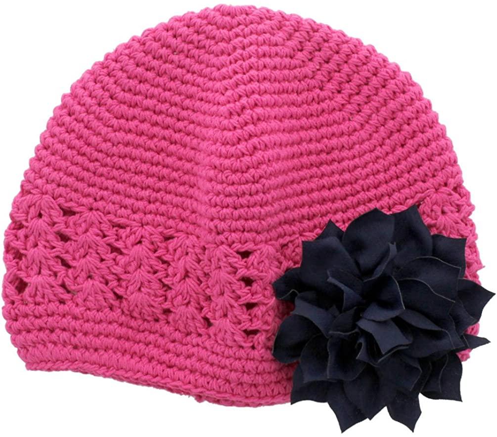 My Lello Infant Baby Girl's Crochet Beanie Hat with Flower