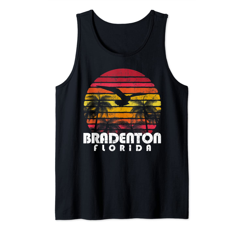 Vintage Retro Bradenton FL Florida Beach Distressed Style Tank Top