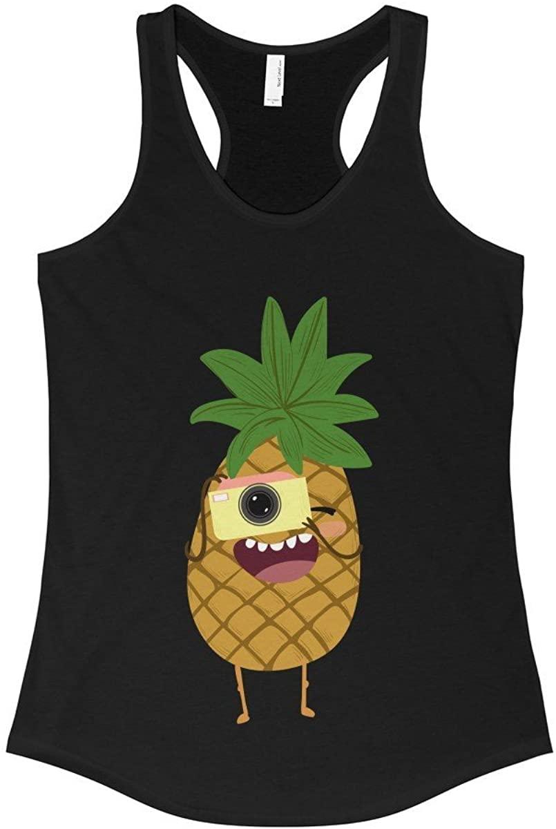 Ourfamilyshirts Women's Pineapple Shirt - Pineapple Tank Top