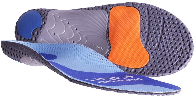 Currex Runpro Insoles - Cush High Arch - Blue - S: Women's 6-7.5 / Men's 4.5-6