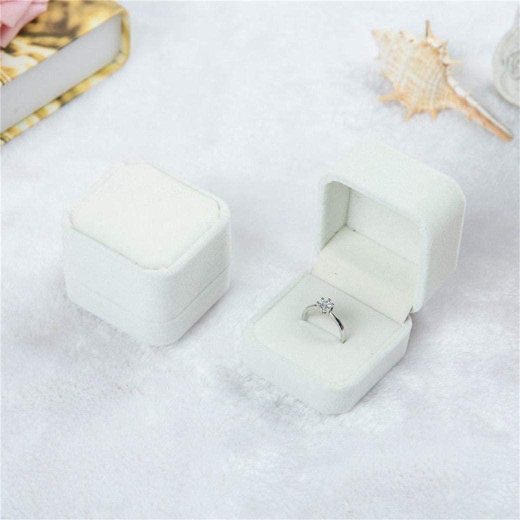 UKURO Ring Display Box for Girls Velvet Square Wedding Earrings Rings Holder Gift Boxes Jewelry Storage Organizer