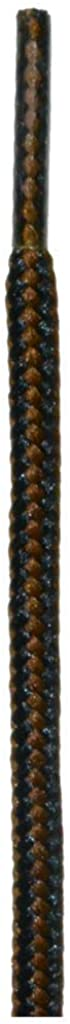 Mercury + Maia 'Jaguar' Sleek Boot Laces - USA MADE - 2 Pair Hiking & Work Boot Laces (Black/Chestnut)