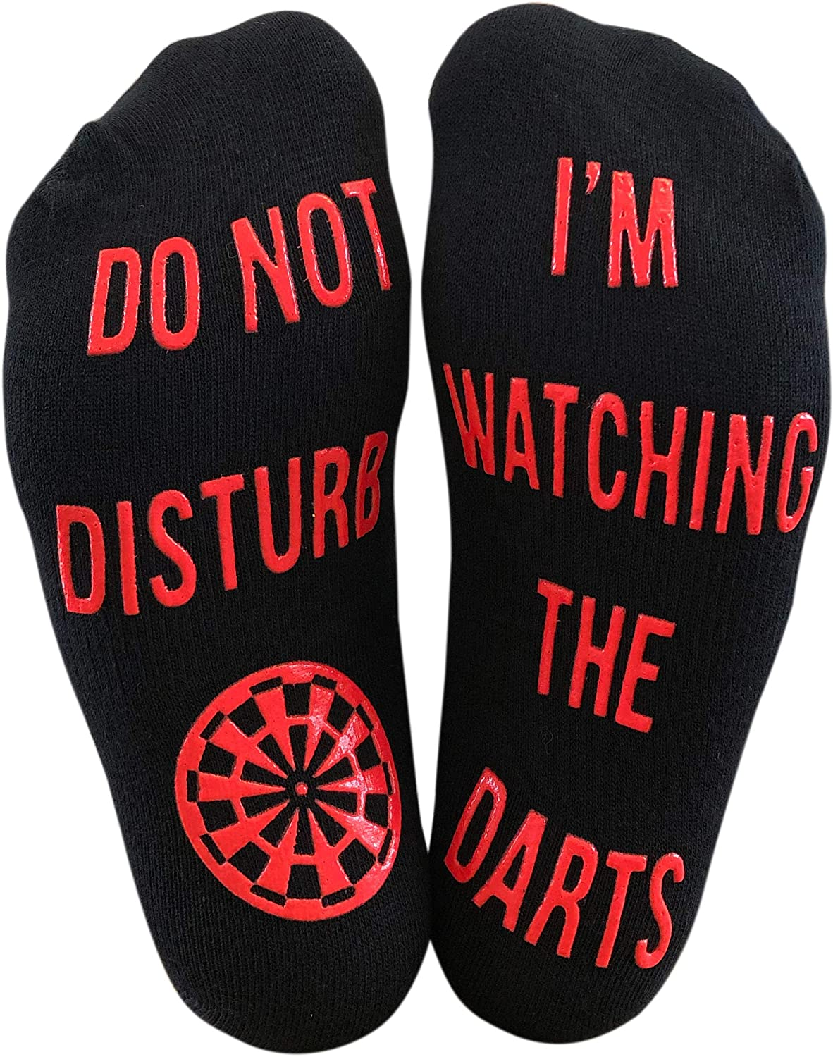 'Do Not Disturb, I'm Watching The Darts' Funny Ankle Socks - Great Christmas Birthday Gift For Darts Fans
