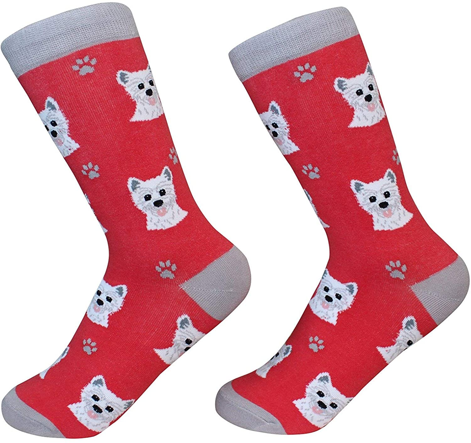 Highland Terrier Westie Terrier Dog Breed Socks Unisex Sock Daddy by E&S Pets