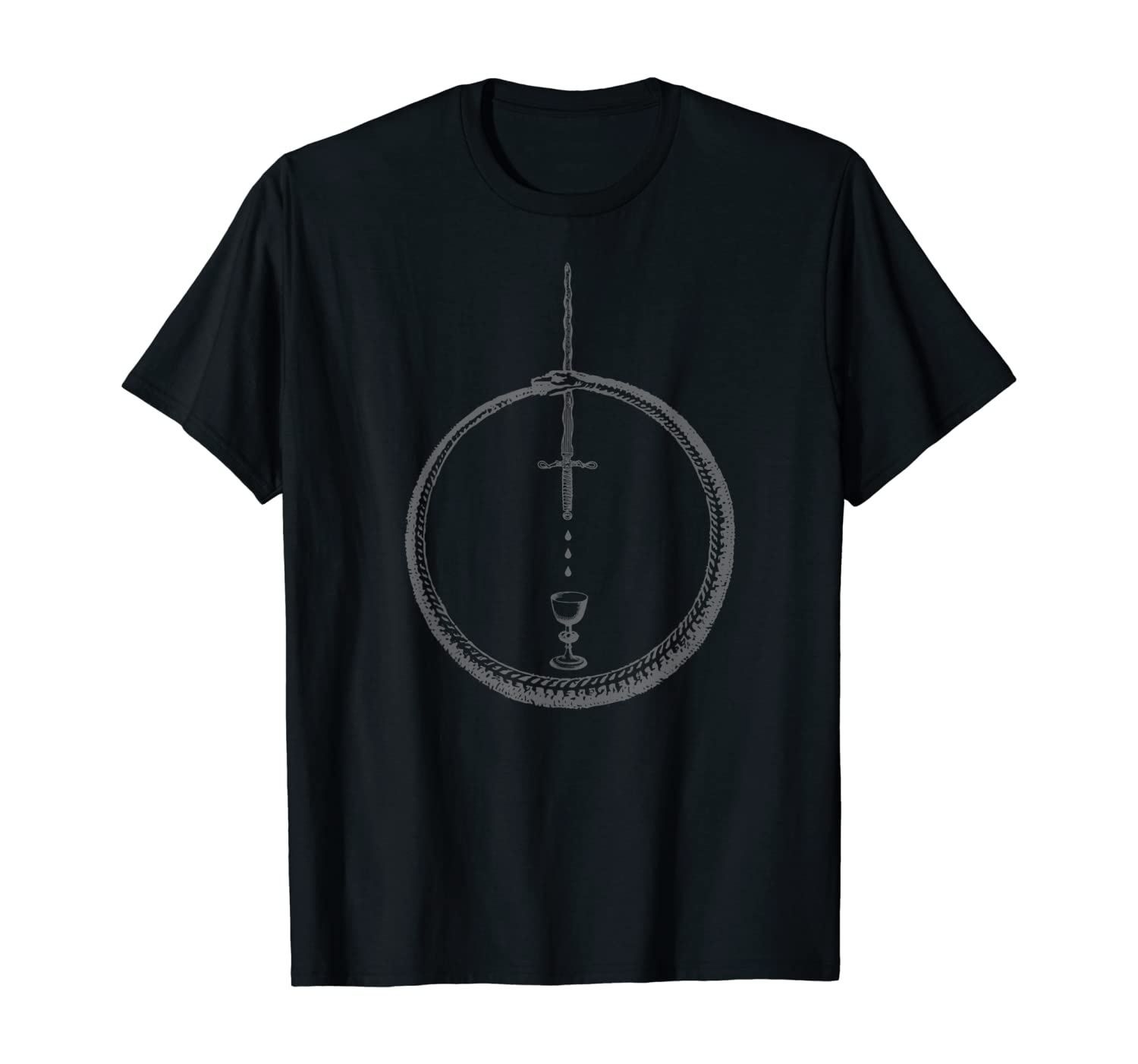 OUROBOROS - Alchemy Symbol Black - Occult Sacred Geometry T-Shirt