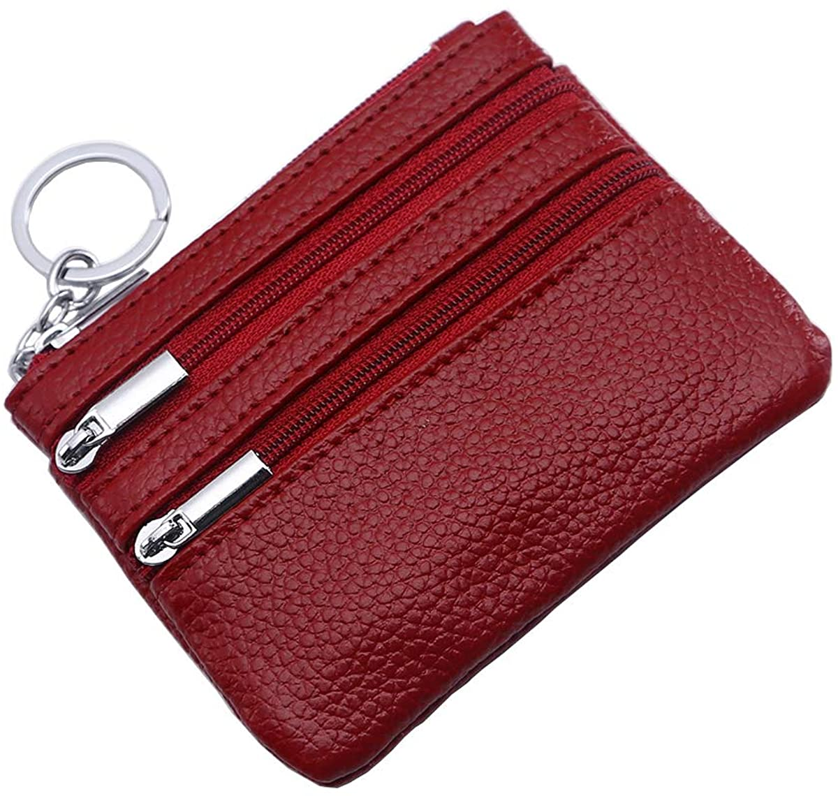 Vogbel Women's Coin Purse Leather Change Wallet, Coin Pouch with Zipper