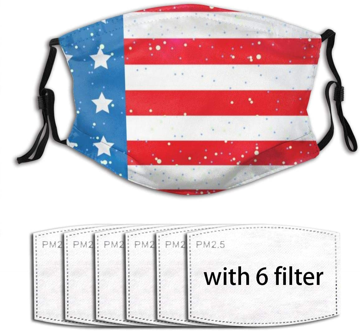 Happy July Fourth American Flag Fashion Printed Outdoor Dust-Proof Facial Tools (Unisex)