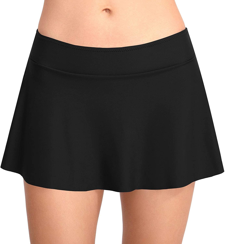 Womens Swim Skirt Swimsuit/Bathing Suit/Bikini/Tankini Bottom with Built in Brief