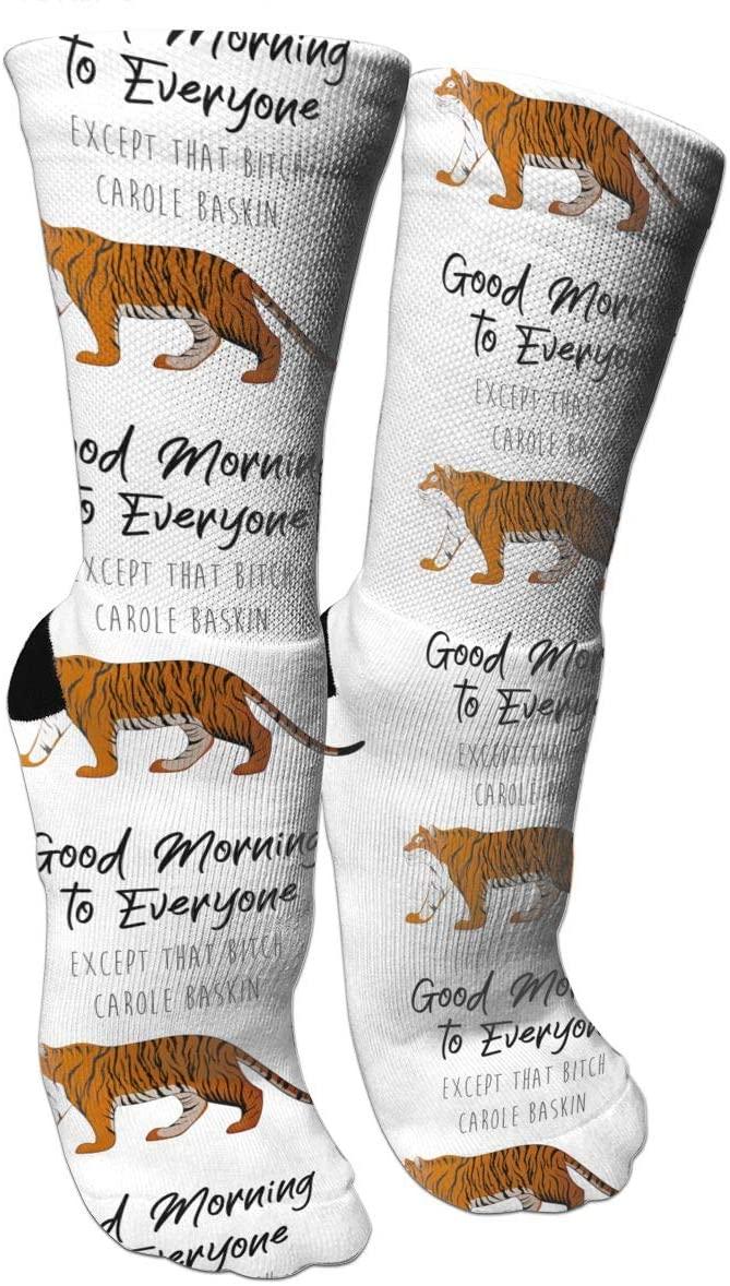 antspuent Tiger King Carole Baskin Compression Socks Unisex Fun Novelty Crazy Dress Crew Socks