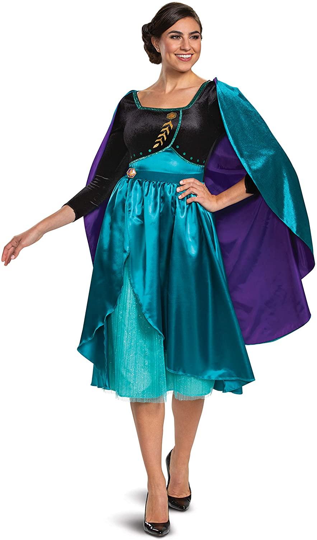 Disguise Womens Frozen 2 Queen Anna Dress Deluxe Adult Costume