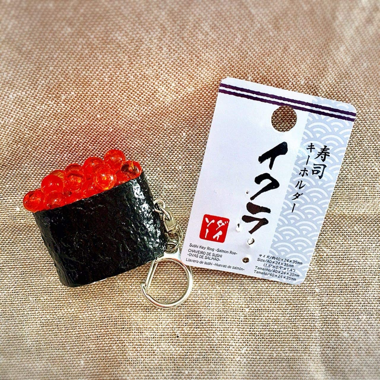 DAISO Key Ring Sushi