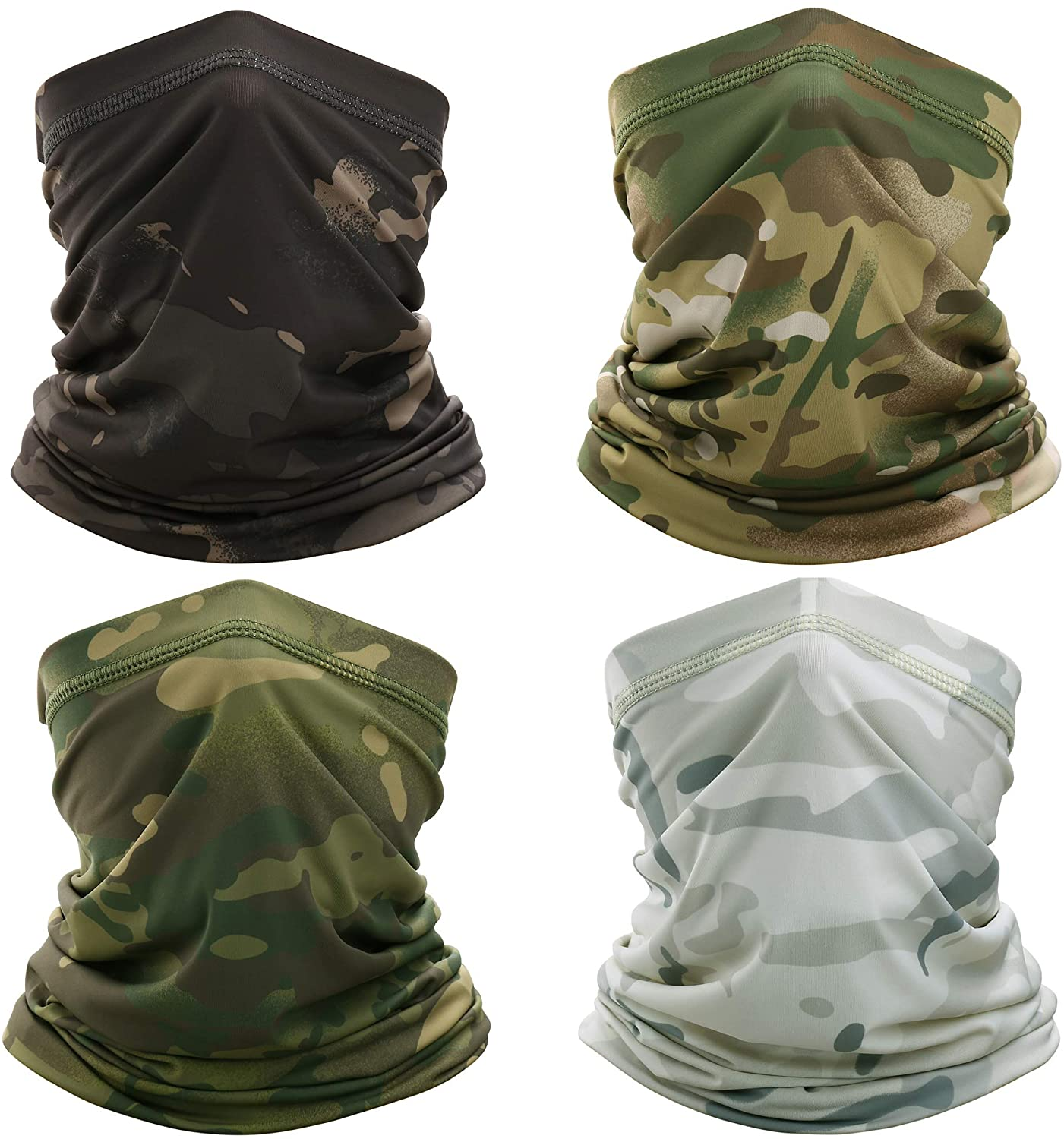 WTACTFUL UPF 50, Lightweight Cool Neck Gaiter Face Mask Protection Dust, Sun, Windproof for Outdoor