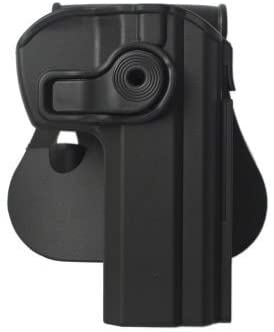 CZ 75B Compact Gun Holster with Detachable Mag Pouch Polymer Roto Holster Black and a genuine IGWS's firing range earplugs kit.