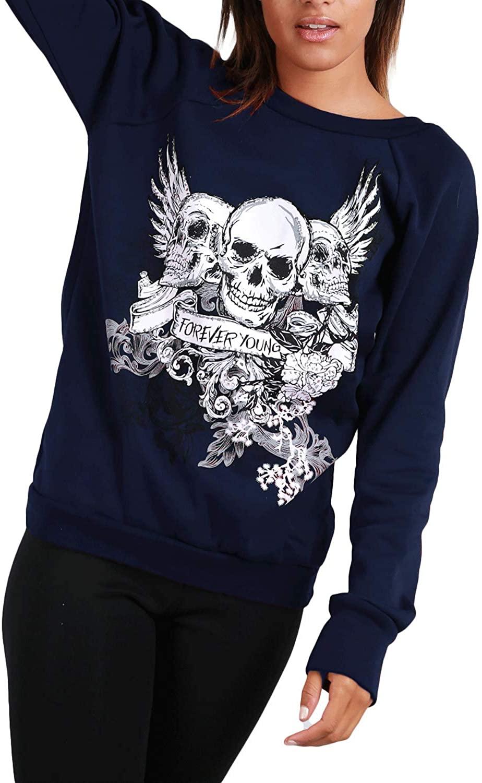 Be Jealous Womens Halloween Fleece Colorful Skull Mini Dress Navy Plus Size (US 12/14)