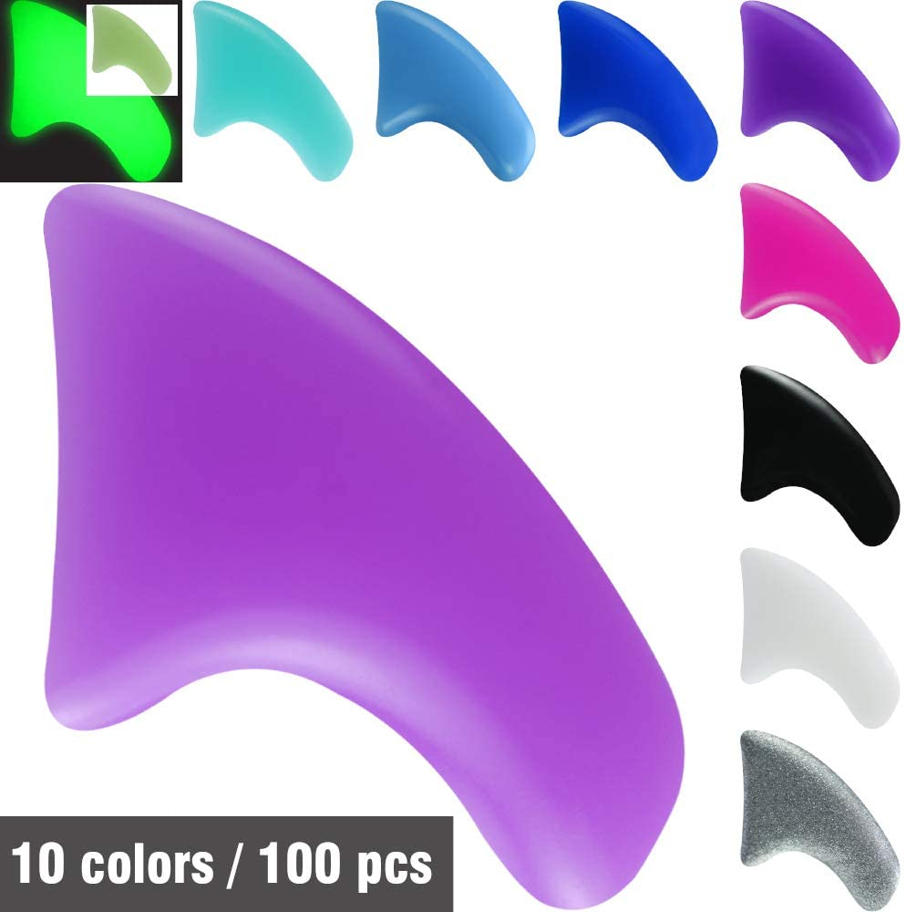 MiiOUU 100 pcs / 10 Colors Cat Claw Caps Covers for Cats Nail Claws with Adhesives and Applicators