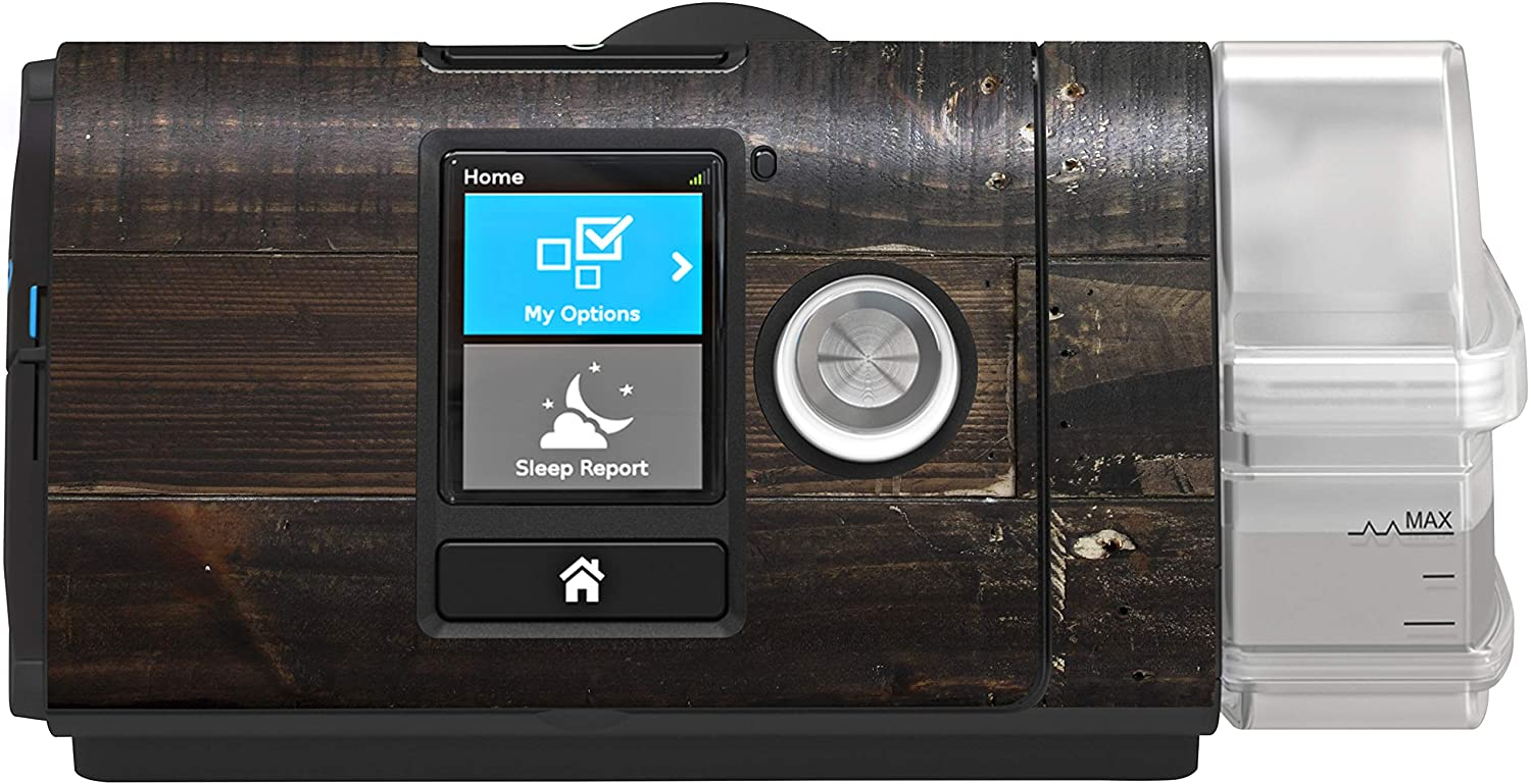RespLabs CPAPwraps Compatible with ResMed AirSense 10 CPAP Machine - Burned Wood Skin
