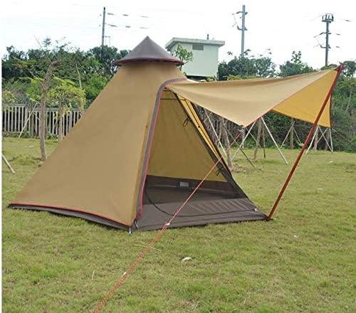 Waterproof Indian 5-Person Family Camping Beach Yard Canopy Awning Gazebo Glamping Yurt Tent
