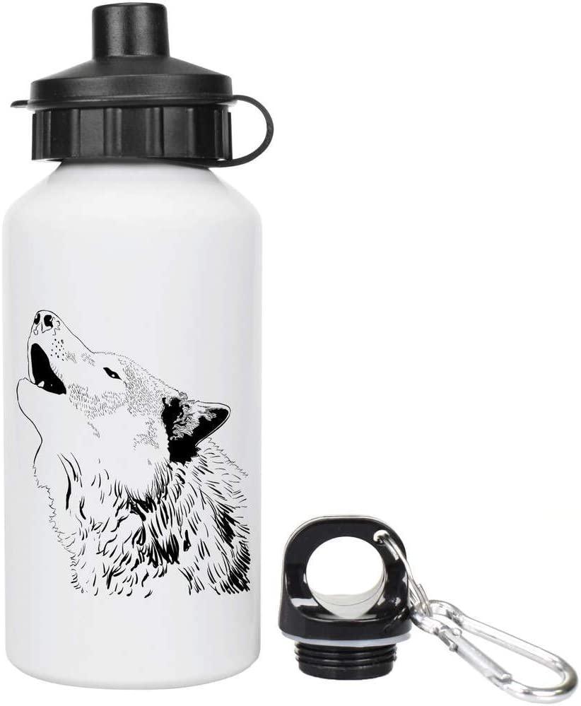 Azeeda Howling Wolf Kids Reusable Water / Drinks Bottle (WT00002516)
