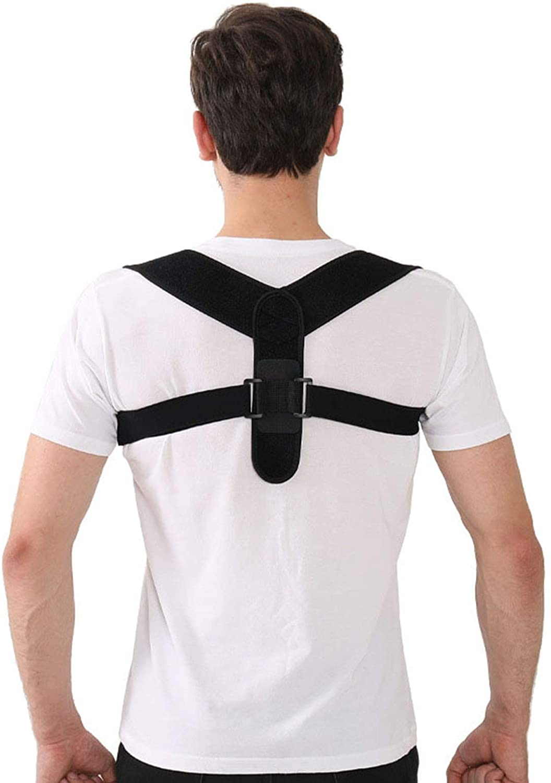 ZHZX Posture Corrector for Men and Women - Adjustable Spine Straightener, Pain Relief for Back Neck and Shoulder (Black)