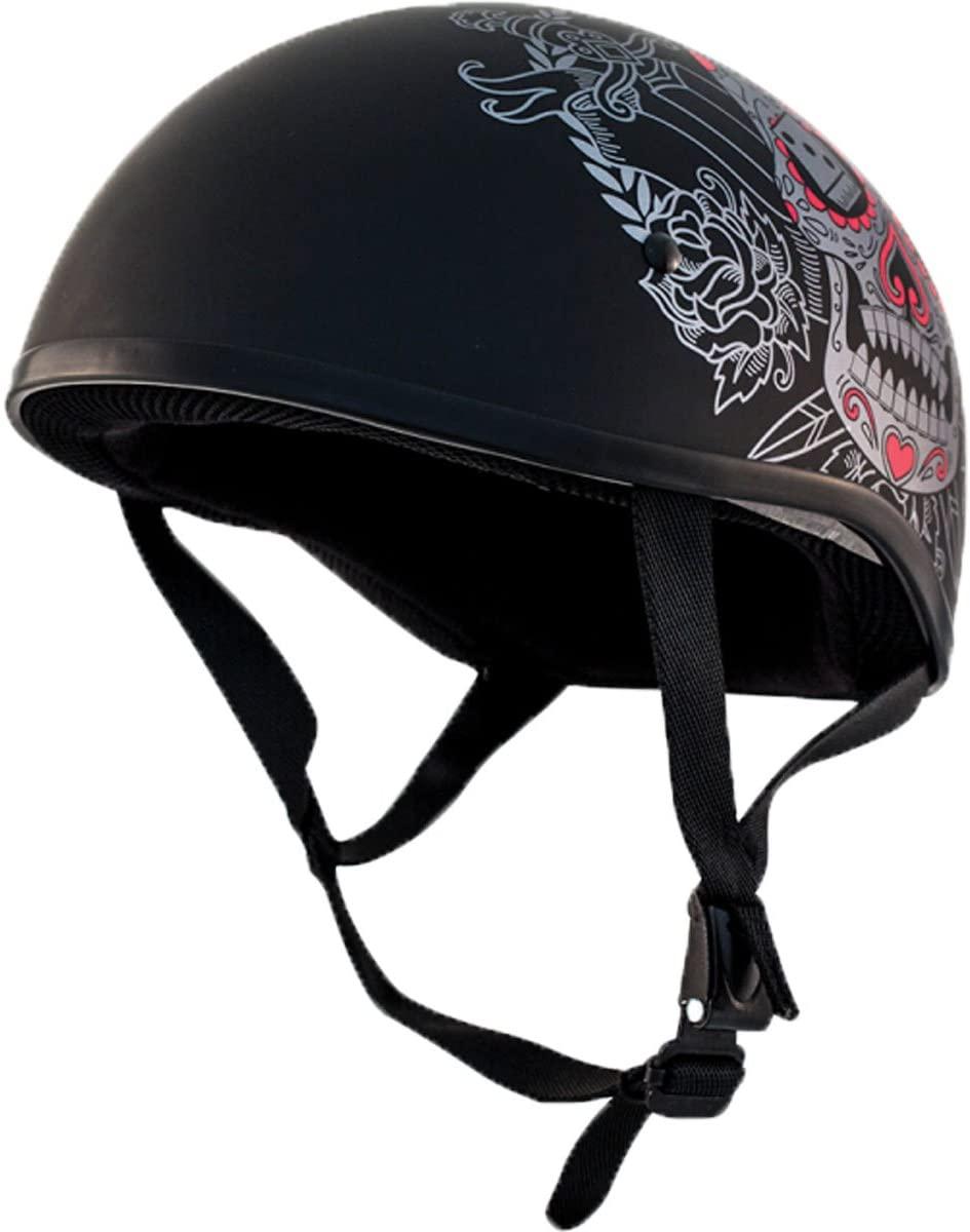 ZOX ST-225A 'Retro Old School' Muerte Matte Grey Motorcycle Half Helmet - X-Large