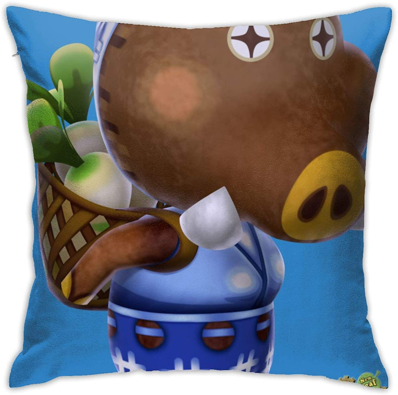 KURITIAN Pillow Cover Cushion Cover Animal Crossing Decorative Pillow Case Sofa Seat Car Pillowcase Soft 18x18 Inch