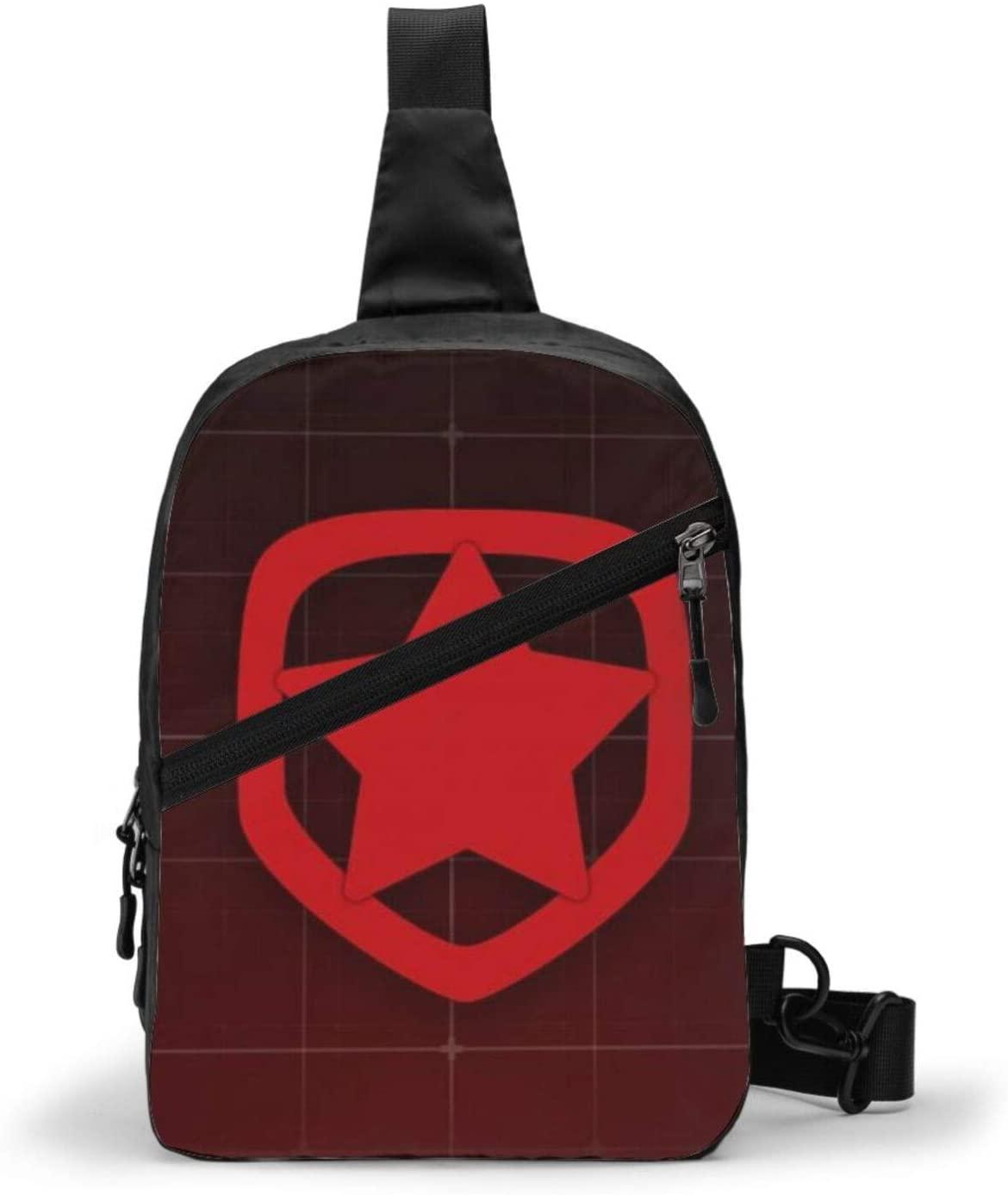 Sonickingmall Csgo Gambit Youngsters Logo Chest Package Sling Bag Large Capacity Multipurpose Daypack Men Women Chest Shoulder Backpack Casual Crossbodytravel Hiking Vintage Chest Bag Daypacks